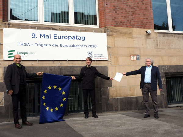 Verleihung des Europabanners