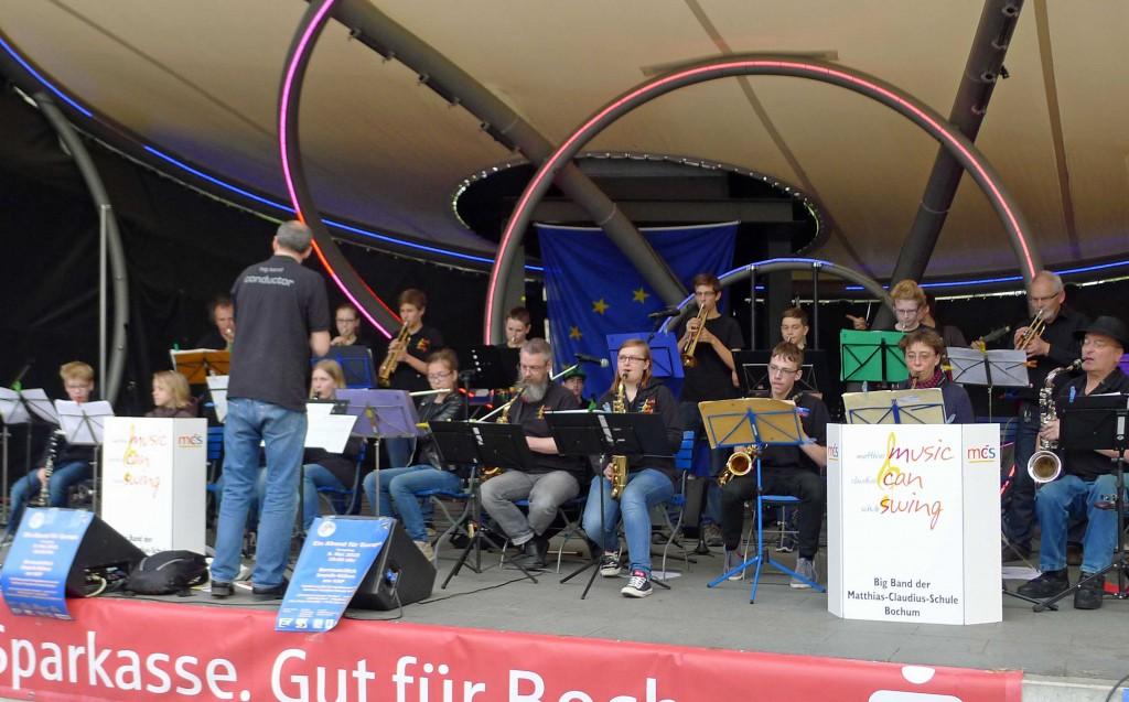 Die Big-Band der Matthias-Claudius-Schule sorgte für schmissige Töne!