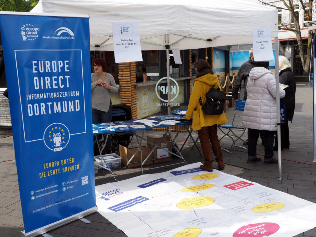 Der Stand Europe-Direct-Informationszentrums Dortmund