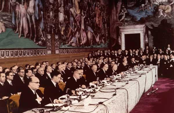 Unterzeichnung des Vertrages von Rom